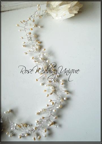 Rose Wedding Unique by Charmy Bride- сватбени бижута